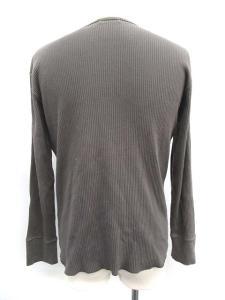 バーバリーブラックレーベル BURBERRY BLACK LABEL Tシャツ カットソー Vネック 長袖 リブ 3 グレー /TS99の買取実績
