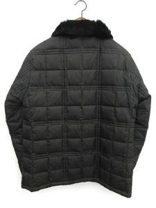 バーバリーブラックレーベル BURBERRY BLACK LABEL ダウンジャケット キルティング ファー 黒 L /☆Q14 メンズの買取実績
