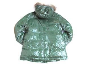 ハンティングワールド HUNTING WORLD ダウン ジャケット コート フード ラクーン ファー ジップアップ 長袖 緑 50 メンズの買取実績