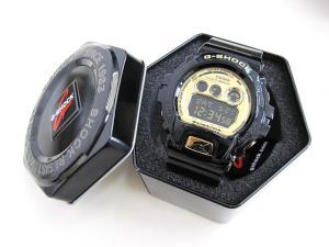 ジーショック G-SHOCK デジタルメンズ腕時計 GD-X6900FB-1 黒 ゴールド文字盤 ケース付 並行輸入 カシオ CASIO