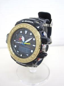 ジーショック G-SHOCK ガルフマスター GULFMASTER メンズ腕時計 GWN-1000F カシオ CASIO ソーラー 防水 箱付 ネイビー 紺 ゴールドベゼル 美品の買取実績