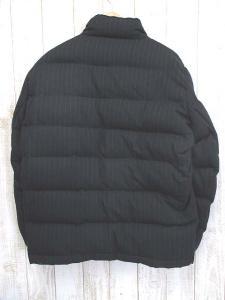 セオリー theory ストライプ柄ダウンジャケット38黒 アウター ジップアップ スナップボタン 長袖 ブラック メンズの買取実績