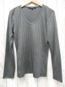5351プールオム 5351 POUR LES HOMMES 長袖 ストライプ カットソー 3 シャイニーカーキ Tシャツ