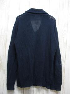 ビームス BEAMS リネン100% ショールカラー ニット カーディガン M 紺 長袖 ポケット付 麻100% メンズの買取実績
