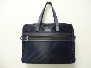 バリー BALLY ブリーフケース 書類カバン ビジネスバッグ ナイロン ブルー 青 メンズ