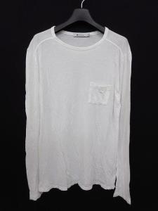 アレキサンダーワン ALEXANDER WANG Tシャツ カットソー 胸ポケット 白 長袖 XS ●