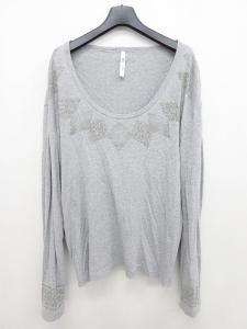 グラム glamb Tシャツ 霜降 プリント グレー 長袖 3 ☆