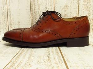 【Lloyd Footwear/ロイド フットウェア】 カントリー/ビジネスシューズ ハーフブローグ レザー ストレートチップ ダイナイトソール ローカット 茶5 1/2E ●T3048の買取実績