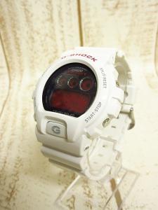 美品 ジーショック G-SHOCK カシオ CASIO 腕時計 デジタル タフソーラー 電波 3179 JA GW6900F 白 赤 ●A2998