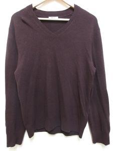 アクネ Acne ニット セーター ウール カシミヤ混 長袖 Vネック 紫系 S