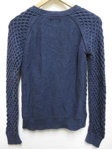 バブアー Barbour ニット セーター 長袖 コットン100% クルーネック 紺 8の買取実績