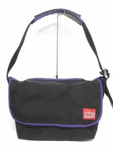 ビームス BEAMS マンハッタンポーテージ Manhattan Portage バッグ ショルダー メッセンジャーバッグ キャンバス 黒 ブラック 紫 メンズ