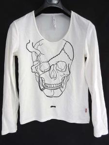 グラム glamb Tシャツ カットソー 長袖 白 ホワイト ドクロ 1