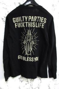 ワコマリア WACKO MARIA GUILTY PARTY ギルティパーティーズ 長袖Tシャツ ヘンリーネック バックプリント 黒 ブラック Lの買取実績