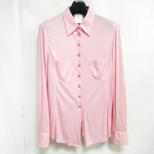 シャネル CHANEL ヴィンテージ 97年 シャツ 長袖 シルク100% ココボタン ピンクの買取実績
