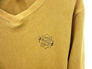 キャリー CALEE Tシャツ サーマル Vネック ロゴ刺繍 長袖 キャメル size M 160821の買取実績