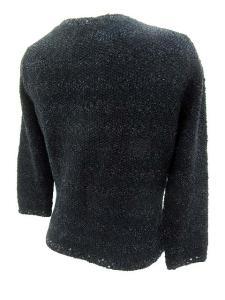 未使用品 アナイ ANAYI カーディガン ボーダー 七分袖 スパンコール 装飾 黒 size 38 161124 レディースの買取実績