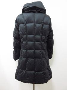バルマン BALMAIN ダウン コート ショールカラー 市松模様織柄 42 黒系 K422 レディースの買取実績