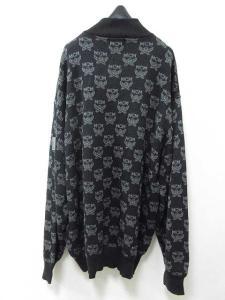エムシーエム MCM ニット セーター ハーフジップ 総柄 4L 黒 ●☆ A44 メンズの買取実績