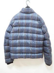アルマーニ コレツィオーニ ARMANI COLLEZIONI 国内正規 ダウン ジャケット チェック柄 50EU 青系 ●☆ K331 メンズの買取実績