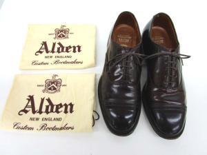 【ALDEN/オールデン】 ブルックスブラザーズ/コードバン/ストレートチップ/キャップトゥ/ドレスシューズ/サイズUS7.5/15150/BROOKS BROTHERSの買取実績
