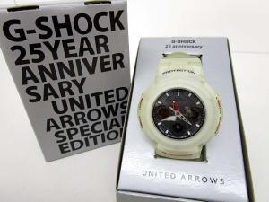 ジーショック G-SHOCK ユナイテッドアローズ別注 25周年記念 コラボ クリア AWG-525UAJ 腕時計 ウォッチ 箱付き