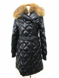モンクレール MONCLER ミルブルック MILBROOK ダウンコート ファー付き キルティング ブラック サイズ0 正規品