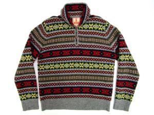 バラクータ BARACUTA 長袖 ウール ニット セーター サイズ 40 総柄 トップス ショールカラー プルオーバー 毛100%の買取実績
