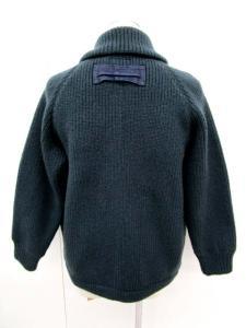 ブルーブルー BLUE BLUE ウール カウチン ニット サイズ 2 深緑系 長袖 セーター アウター ジャケット 上着 ジップアップ ブルゾン 日本製 聖林公司の買取実績
