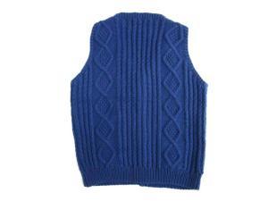 インバーアラン INVERALLAN Vネック コットンニットベスト トップス アウター ブルー 青 英国製 ケーブル編みの買取実績