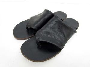 アタッチメント ATTACHMENT KAZUYUKI KUMAGAI カズユキクマガイ サンダル レザー ブラック 黒 41 靴 トング