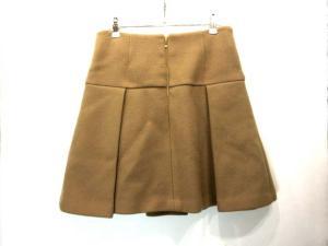 ドゥーズィエムクラス DEUXIEME CLASSE スカート ウール ボックスプリーツ 台形 ミニ ベージュ系 38の買取実績