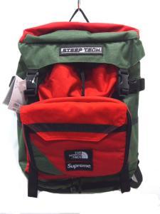 新品 シュプリーム SUPREME 国内正規 16ss THE NORTH FACE Steep Tech Backpack コラボ バックパック リュック オリーブ M1404