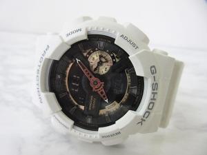 【G-SHOCK/ジーショック】 GA-110RG Rose Gold Series 腕時計 ホワイト