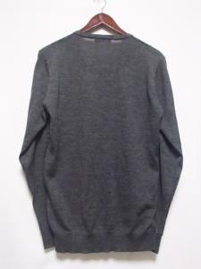バーバリーブラックレーベル BURBERRY BLACK LABEL 美品 ニット セーター 長袖 Vネック 千鳥格子柄 グレー 3の買取実績