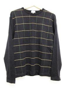 ポールスミス PAUL SMITH 美品 ニット セーター 長袖 クルーネック ブラック 黒 M メンズの買取実績
