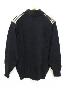 未使用品 アクアスキュータム AQUASCUTUM ニット セーター 長袖 ハイネック ブラック 黒 M メンズの買取実績