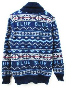 ブルーブルー BLUE BLUE カーディガン カウチン ニット セーター ノルディック ロゴ 1 ブルー 秋冬【フクウロ】の買取実績