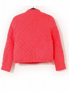 ランバンオンブルー LANVIN en Bleu ダウンジャケット ノーカラー ピンク M アウター 長袖 38 フェザー キルティングの買取実績