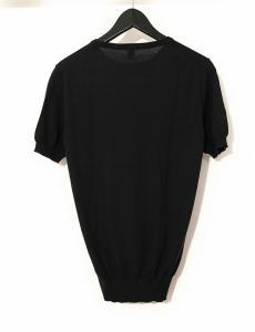 バランタイン BALLANTYNE ニット セーター 黒 ブラック S トップス 半袖 44 カシミヤ100% 無地 丸首の買取実績