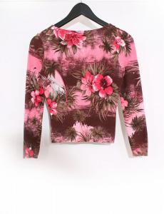 アンナモリナーリ ANNA MOLINARI セットアップ カーディガン スカート 赤 ピンク 茶色 I42 D36 レーヨン シルク 花柄の買取実績