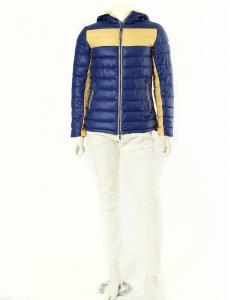 アルマーニ ジーンズ ARMANI JEANS ダウンジャケット 紫 パープル 黄色 L アウター EU48 リバーシブル