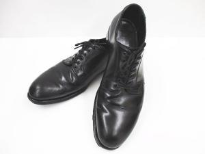ヘルムートラング HELMUT LANG 革靴 レザーシューズ プレーントゥ 牛革 26 黒の買取実績
