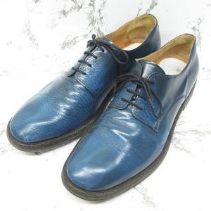 マルタンマルジェラトゥエンティトゥー Martin Margiela 22 レザー シューズ 革靴 プレーントゥ 外羽根 青系 43 ※NS-2319 ※02の買取実績