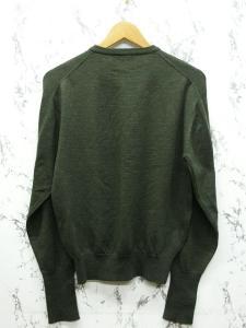 アクアスキュータム AQUASCUTUM ニット セーター ウール100% 長袖 クルーネック 無地 緑系 M ※NK-5179 ※02 メンズの買取実績
