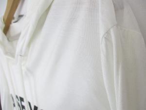 ディオールオム Dior HOMME パーカー カットソー プルオーバー 長袖 ロング丈 英字プリント 薄手 白 春夏 *A365 メンズの買取実績