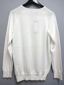 未使用品 ダイエットブッチャースリムスキン DIET BUTCHER SLIM SKIN 15SS ニット セーター ボーダー スキッパー コットン 1 ホワイト 白の買取実績