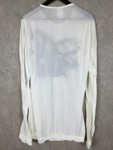 アンドゥムルメステール ANN DEMEULEMEESTER バード プリント カットソー Tシャツ S ホワイト 白の買取実績