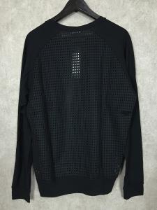 未使用品 ダイエットブッチャースリムスキン DIET BUTCHER SLIM SKIN 15SS ラグラン メッシュカットソー 長袖Tシャツ 2 ブラック 黒の買取実績
