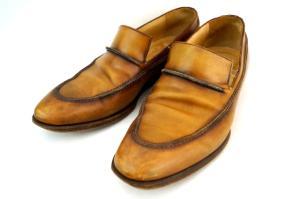 ベルルッティ Berluti レザー ローファー 革靴 7 1/2 キャメル 茶の買取実績